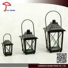 New Fashion Plain Glass Candle Lantern For Grave