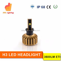 2016 New H3 Led headlight super bright 30W 3600LM auto car parts replace Xenon hid kits factory cheap sale