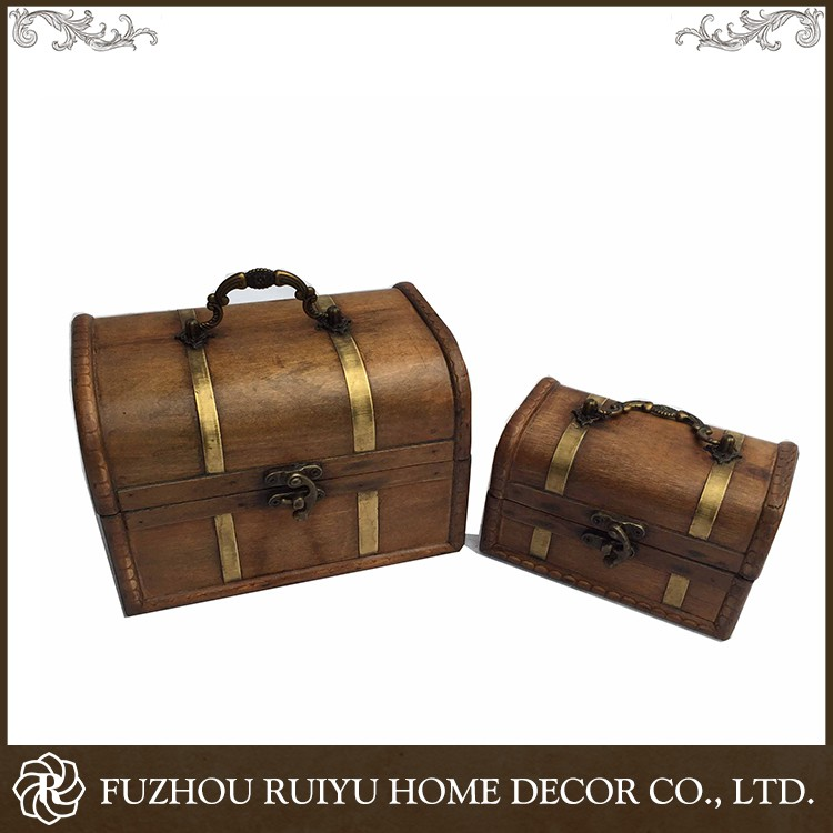 China Wholesale Custom OEM wooden box treasure chest