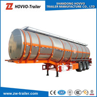 Oil Tanker Crude Oil Tank Semi Trailer Fuel petroleum 45000liters Stainless Steel Fuel Tanker Semi Trailer