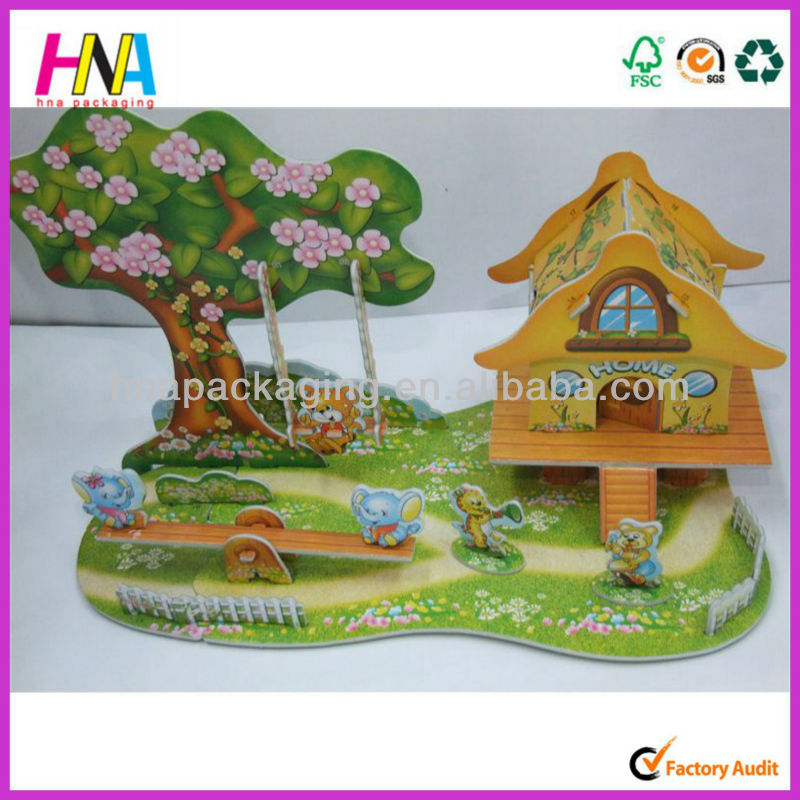 Seesaw and animals 3D jigsaw puzzle model