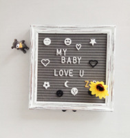 Felt Letter Board with 600 Pre Cut Letters Classified According to A~Z 0~9 10X10 Word Board with Stand +Sorting Tray +Gift Box