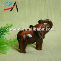 Wholesale Rainbow Stone Elephant Animals Carved 2''3''4''5''6''
