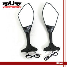 Chopper Motorcycle Integrated Turn Signal Mirrors motorcycle rearview mirror with led