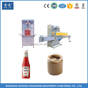 Plastic honey jar Automatic Commercial Peanut butter filling machine