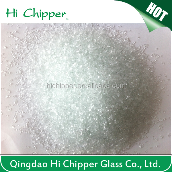 Water filter clear glass sand