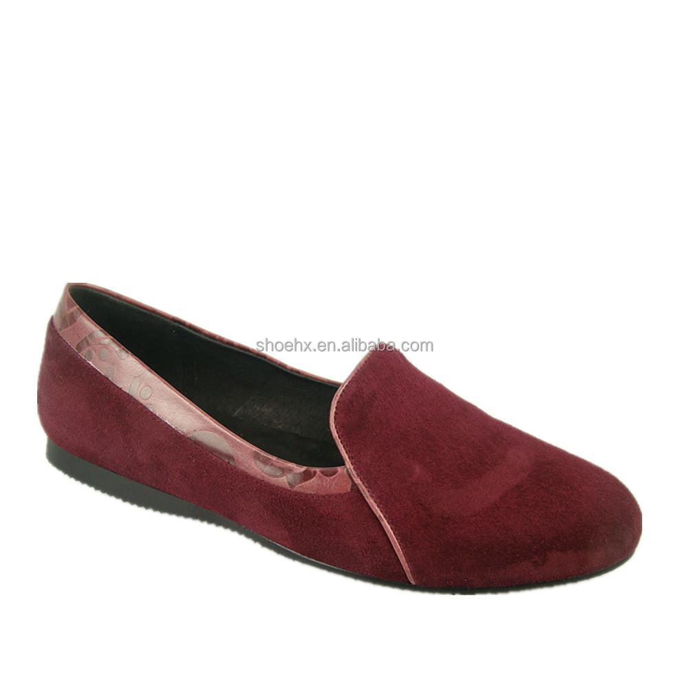 Low Heel Shoes For Women In Wine Color
