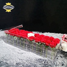 JINBAO custom 9-36 holes large acrylic wedding flower stand