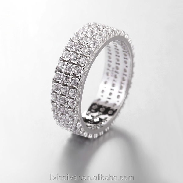 LIXIN 925 silver china cz rings full stone ring cz eternity band ring (YCX07-24ZE)