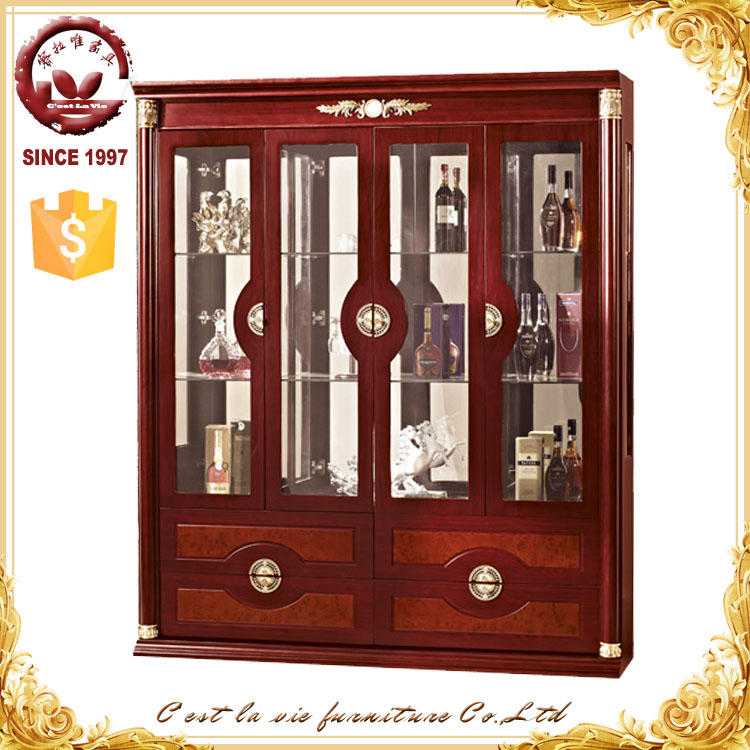Space Saving Furniture Living Room Showcase Design Wine Cabinet
