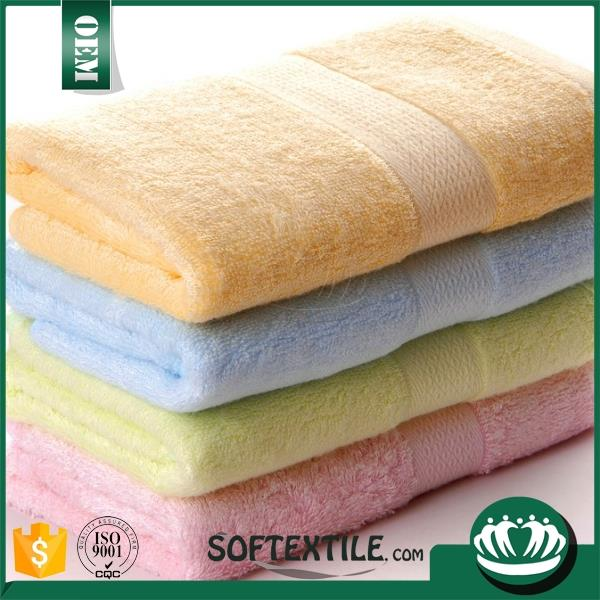 bamboo fiber plain dyed embroidery face towel fabric