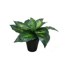artificial fan leaf indoor outdoor decorate potted plant bonsai hot sell