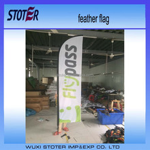 Cheap roadside outdoor wholesale feather flag