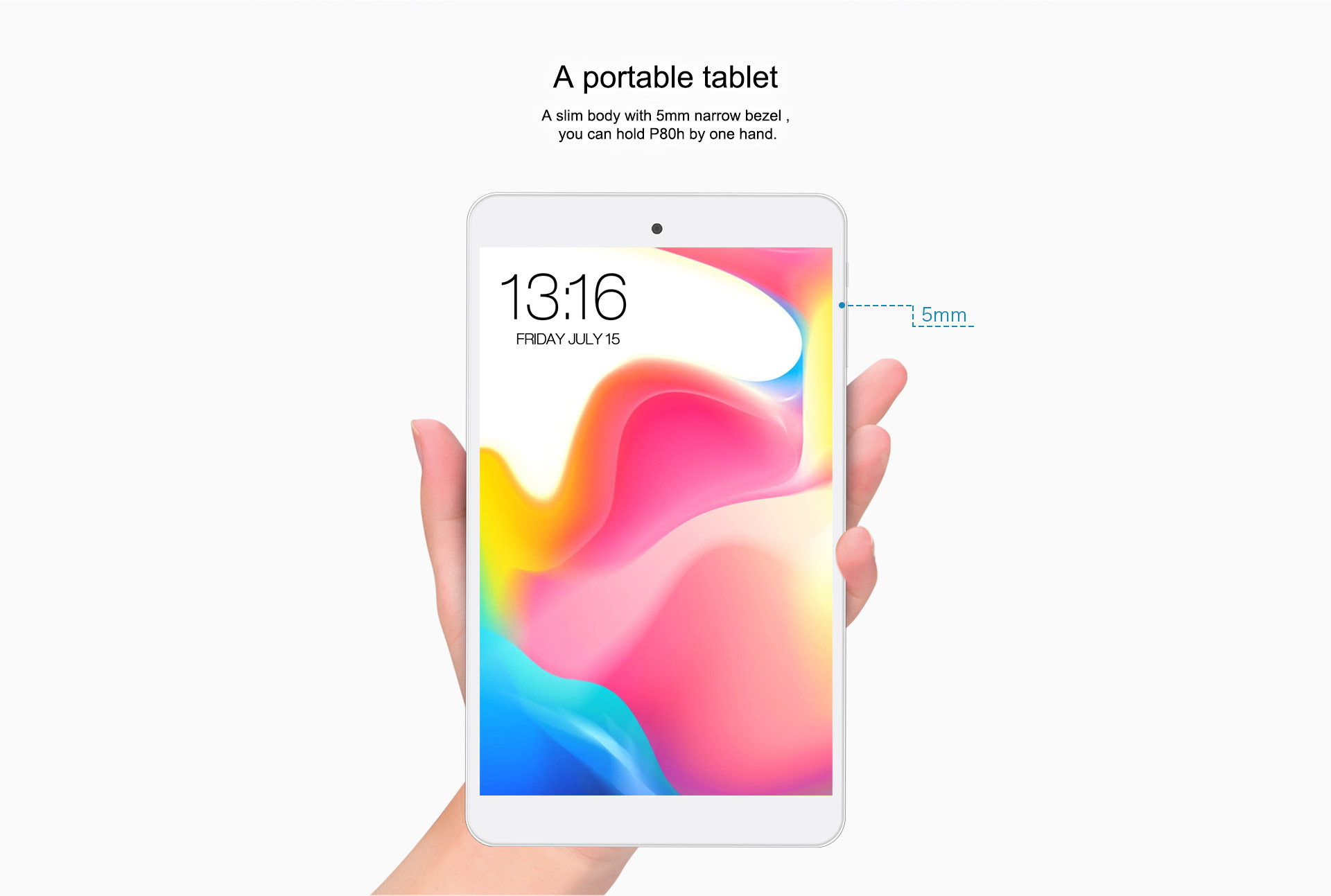 Teclast P80H 8 inch Tablets MTK8163 Android 5.1 Quad Core 64bit IPS 1280x800 Dual WIFI 2.4GHz/5GHz GPS Tablet PC