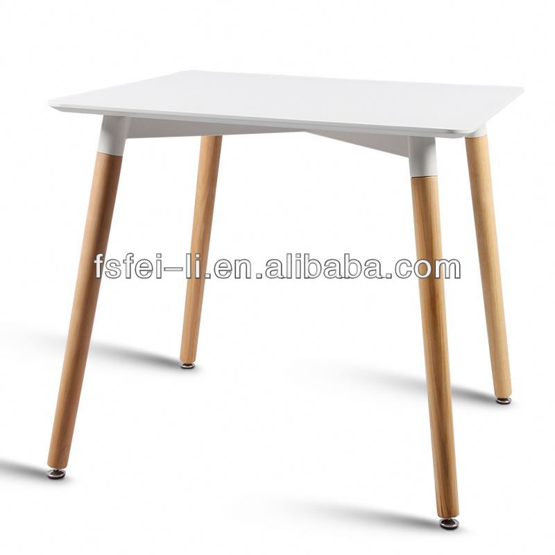 Perfect home furniture white oak dining table and chairs for hotel or home