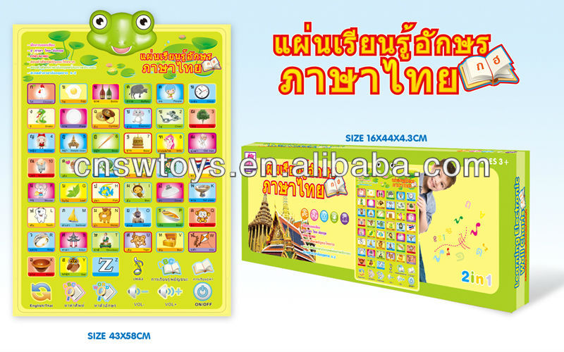 English / Thai alphabet wall charts first learning tool