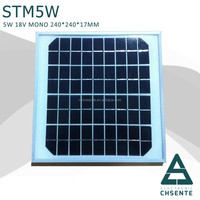 5w A-grade cell sunpower solar panel pv solar panel price