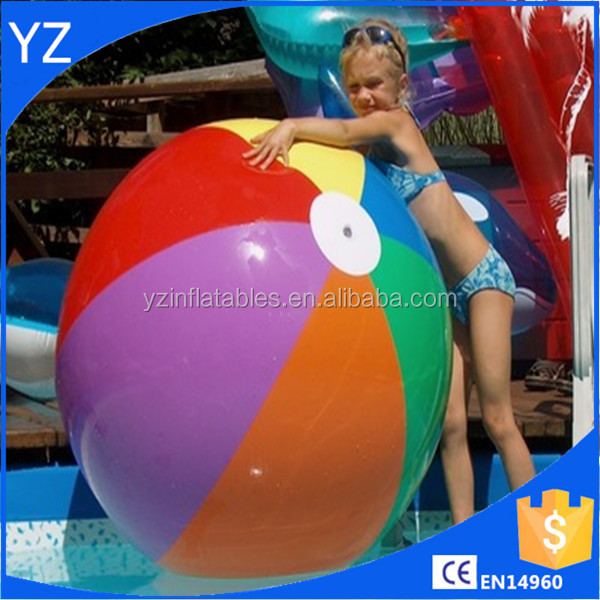 Inflatable PVC Colourful Beach Ball For Water And Beach Items Babys Toy