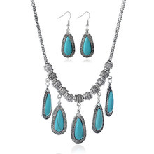 2017 hot sale wholesale elegant turquoise indian wedding jewelry set bridal