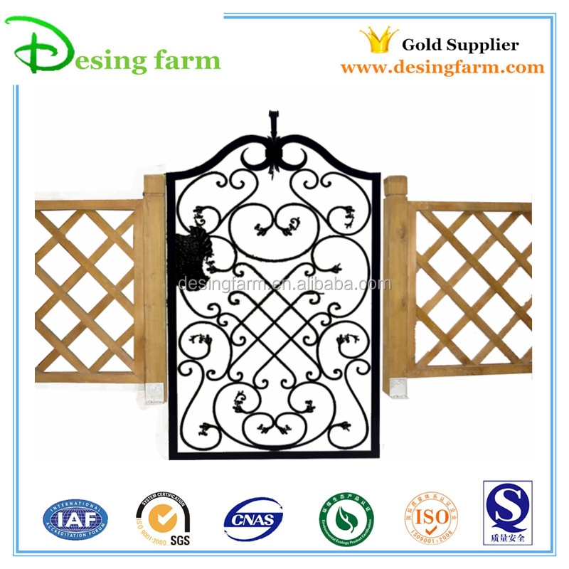 new designs powder coated small iron gate for home