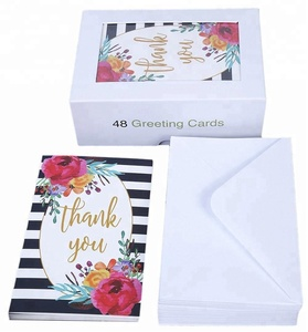 Amazon Hot Selling Thank You Card Box Wedding Floral Cards With Different Designs