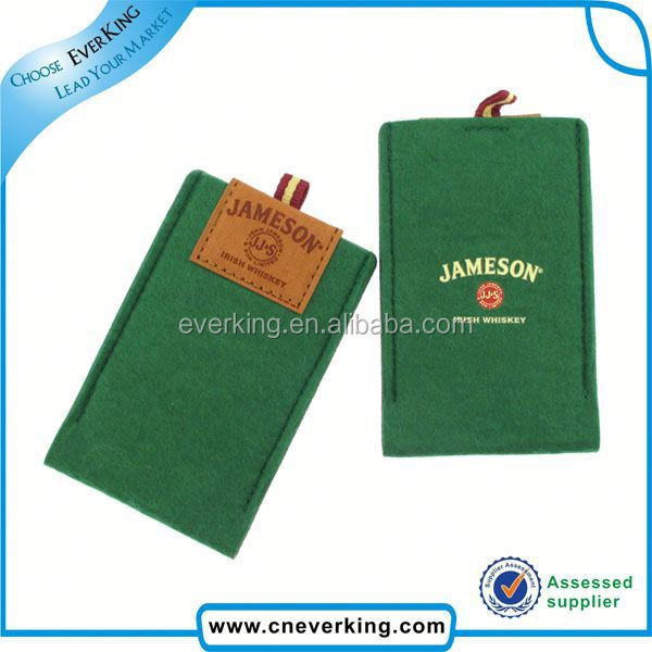 Fashion personal soft fashion felt mobile phone cover/case