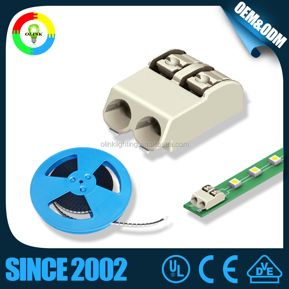 wire to board led strip light 2 pin connector for pcb board