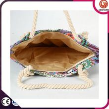 Attractive fashion hot-sale custom large tote bag beach canvas bag for shopping