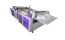 RTML-1200 non-woven label folding embossed fabric cross cutting machine