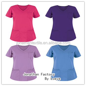 nurse scrubs TOP designs/nurse medical scrub uniforms