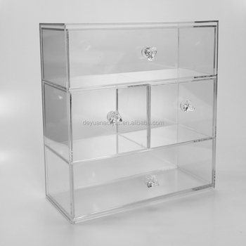 Four Drawer Small Acrylic Jewelry Organizer