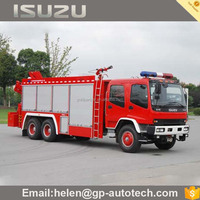 Diesel engine Isuzu Cheap fire fighting trucks for sale 6000L
