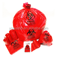 Plastic Pe Medical Biohazard Waste Bag