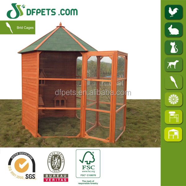 DFB011 Chinese Large Outdoor Wooden Canary Bird Cage