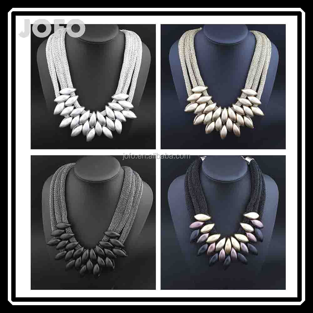 3CJ-001 Fashion Accessories Jewellery Necklace Pendant Jewelry African Women Statement Necklace