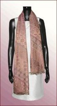 Long wool brocade scarf 004/W-Sk004
