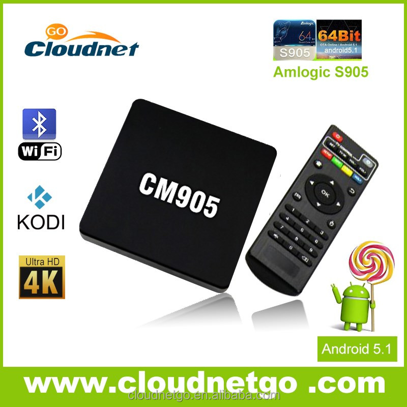 2016 branding welcome, New Android 5.1 S905 quad core tv box, 64bit Amlogic S905 4k S905 Cloudnetgo TV box