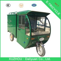 800W postal mail express three-wheeler electric tricycle with dricab