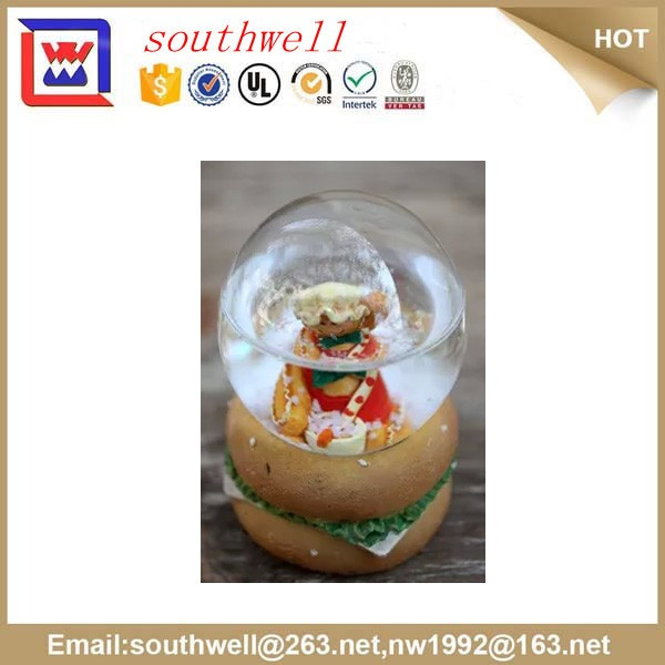 Good quality cheap price resin love glass globe snow globe for wholesales