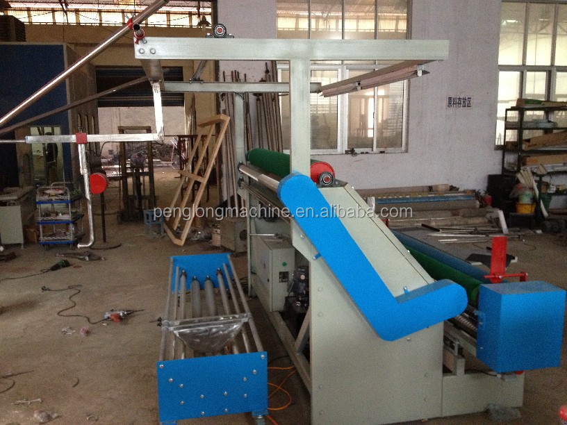 Tubular fabric inspection slitting machine/used textile winding and slitting machine