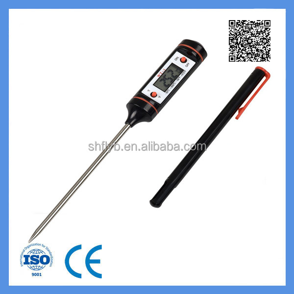 Pen shape digital probe meat food cooking thermometer