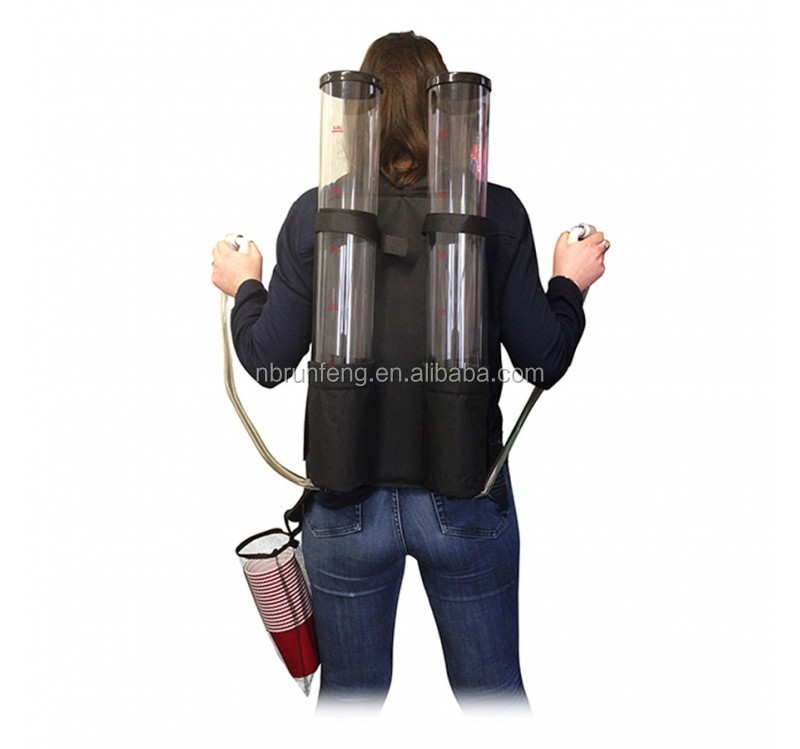 2*3L backpack beer dispenser,beer tower dispenser