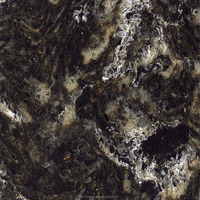 Black Kitchen Countertop Artificial Quartz Stone Engineered Marble Stone