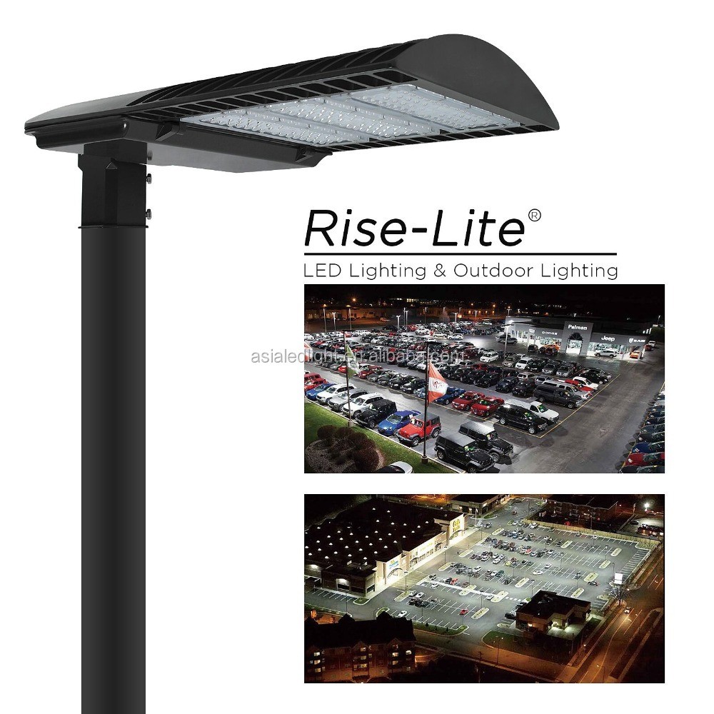 High power photocell dimmable driver led street light fixture pole light for roadway