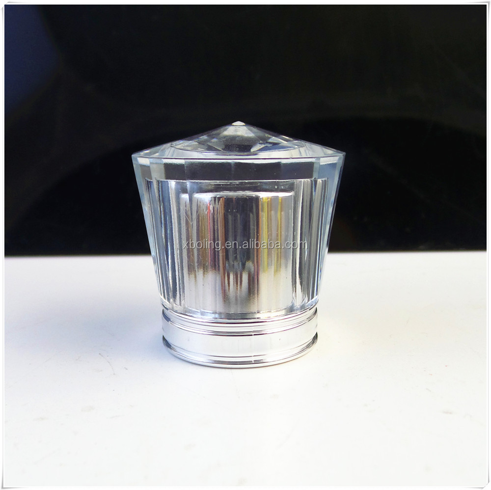 wholesale transparent perfume bottle stopper/lid/cover acrylic cap for luxury perfume