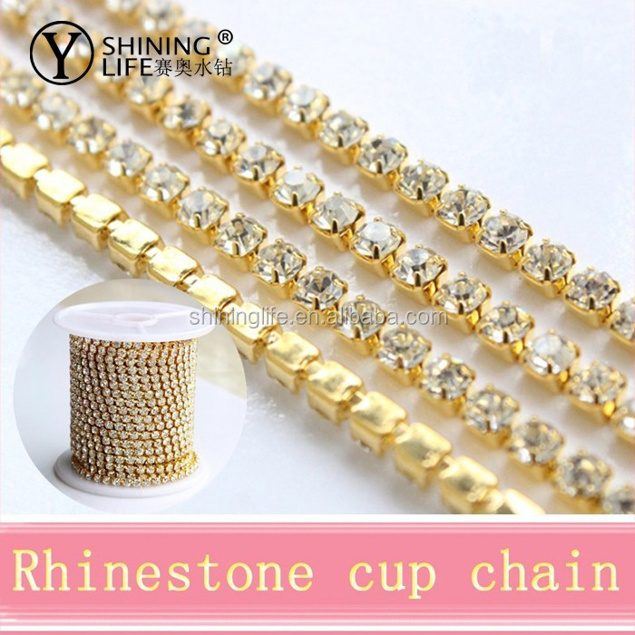 New Arrivals Chaton Claw MC Chaton rhinestone Cup Chain for bag and shoes