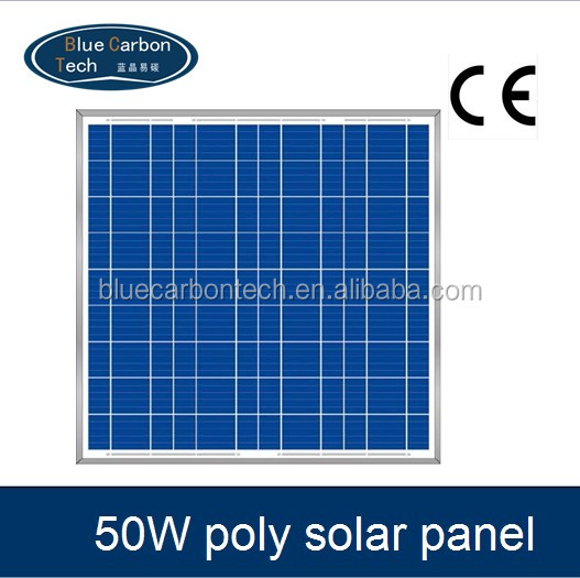 High efficiency 50W poly-crystalline silicon solar panel