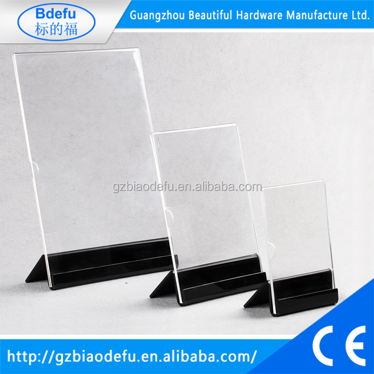 Acrylic Sign Holder with Slant Back Design Acrylic Clear Angled Display Menu Holder