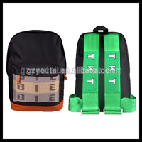 Takate Backpack+Bride Wallet JDM School Bag Race Green Strap Backpack