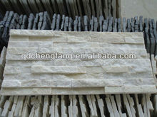 natural cheap white stacked slate/indoor decorative stone